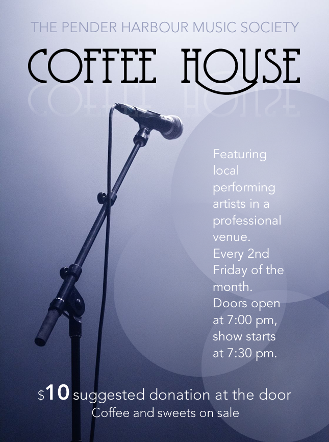 May 8 Coffee House – Pender Harbour Music Society